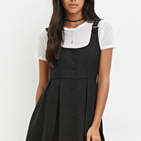 Buckled-Strap Pleated Dress