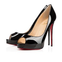 Best Online Sale Christian Louboutin Cl New Very Prive Black Patent Leather 120mm Stiletto Heel Ss15