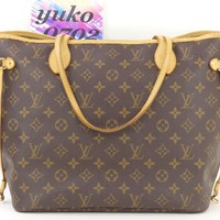 r61132 Auth LOUIS VUITTON Neverfull MM Monogram SP3077 Shopper Tote Bag M40156