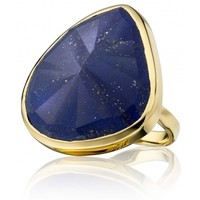 Siren Cocktail Ring in 18ct Gold Plated Vermeil on Sterling Silver with Lapis