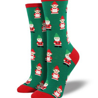 Socksmith Christmas Gnomes Green Socks