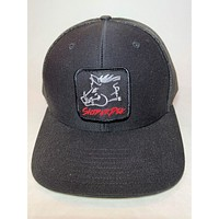 Sniper Pig Black on Black  Patch Cap