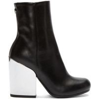 Black Mirrored Heel Gefrye Boots