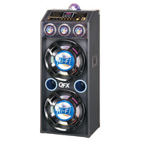 QFX Speaker with Built-in Amplifier and Bluetooth- Blue