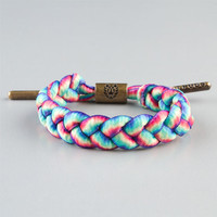 Rastaclat Torey Pudwill Grizzly Shoelace Braclet Roy G Biv One Size For Men 23528095701