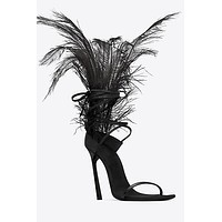 Ava Feather Sandals(Ready To Ship)
