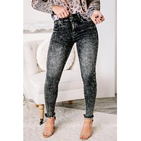 Doubled Up Acid Wash Ankle Skinny Jeans