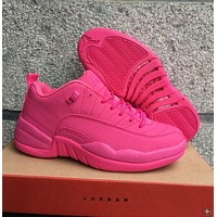 Air Jordan 12 Retro Low Aj 12 Pink Women Basketball Shoes