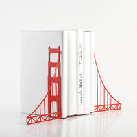 Bookends FREE SHIPPING Golden gate bridge bookends.