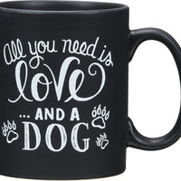 Chalk Mug - And A Dog by Primitives By Kathy