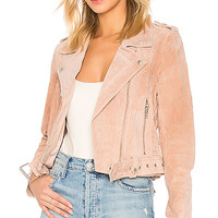 BLANKNYC Belted Suede Jacket in Candy Crush | REVOLVE