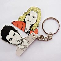 Parks and Recreation: Ben and Leslie, Pawnee's First Couple keychain