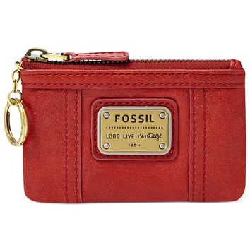 Fossil Coin Case, Emory Leather Zip