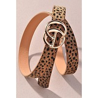 GG Taupe Spotted Belt