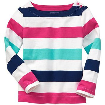 Gap Baby Factory Multi Stripe Tee