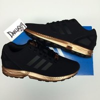 WOMENS ADIDAS ZX FLUX BLACK COPPER S78977 TORSION NEW LIMITED ROSE GOLD 6 6.5 10