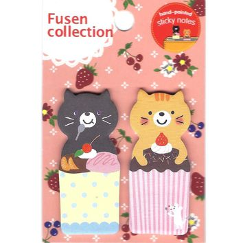 Kitty Cat and Desserts Shaped Animal Memo Post-it Adhesive Bookmark Tabs