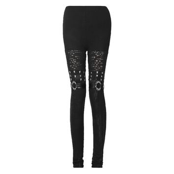 Gothic leggings boot look with rivets Punk Rave K-205