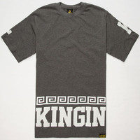 Last Kings Street King Mens T-Shirt Charcoal  In Sizes