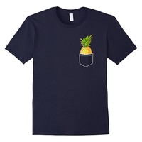 Pocket Pineapple T-Shirt - Pineapple Fruit Shirt Vegan Gift