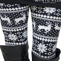 Christmas Printed Warm Leggings