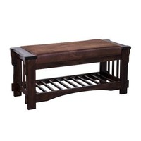 Sunny Designs Bench with Cushion seat In Dark Chocolate