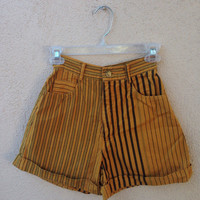 Vintage Contrast Striped High Waisted PARIS BLUES