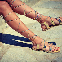 Women Leather Sandals, Gladiator Sandals, Lace up sandals, strappy sandal, toe ring laceups, ancient greek sandals, gold genuine leather