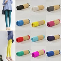 Solid Soft Stretch Long Leggings Cotton Modal Legging Candy Colors Leggins Casual Jeggings = 1958452484