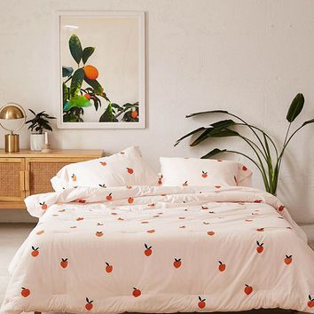 Peaches Comforter Snooze Set | Urban Outfitters
