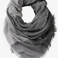 WAFFLE PRINT QUAD SCARF from EXPRESS