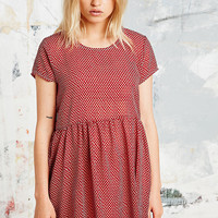 Urban Renewal Vintage Remnants Babydoll Dress in Red - Urban Outfitters