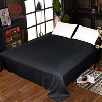 Cool BeddingOutlet Solid Flat Sheet Multi Colors Bedspread for Bedroom Soft Bed Sheet Twin Full Queen King Black White Bed LinenAT_93_12