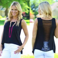 Girls Night Out Top in Black