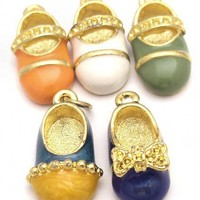These Shoes Were Made for Wearing! Set of 5 Shoe Charms | BeadandSave - Jewelry Supplies on ArtFire