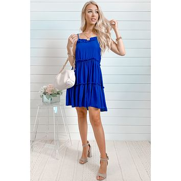 Hey There Delilah Cami Dress | Royal Blue