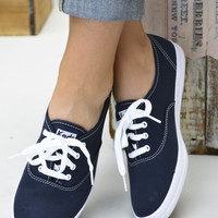 Champion Navy Canvas Keds