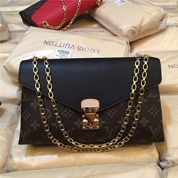LV Louis Vuitton PALLAS CHAIN MONOGRAM Shoulder Bag