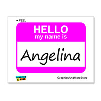 Angelina Hello My Name Is Sticker