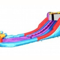 Bounceland Inflatable Twin Rapids Water Slides with Water Guns