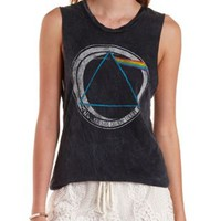 Multi Pink Floyd Graphic Muscle Tee by Charlotte Russe
