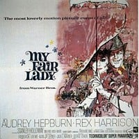 My Fair Lady Audrey Hepburn Vintage Movie Poster