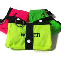 Personalized Neon Yellow Travel Dog Bowl