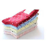 Women Cotton socks standard size ladies casual funny ankle sock Cute Candy Dots Polka 10pairs/lot