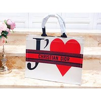DIOR fashion hot seller casual women's print contrast shopping shoulder bag