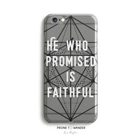 H110 - WHO PROMISED - TPU CLEAR CASE