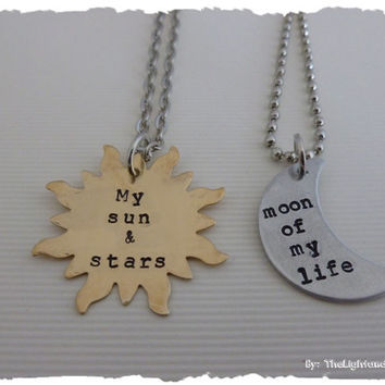 Game of Thrones Sun & Moon Necklace set