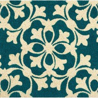 Waverly Greetings Courtyard Aqua Doormat by Nourison