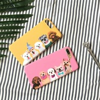 Lizardhill soft imd tpu Cute lovely Dog puppy Cartoon Covers For iphone 6 s Case For iphone 6S 7 8 PLus phone Coque for iphone X