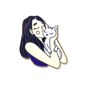 Kiss Cat Enamel Pin